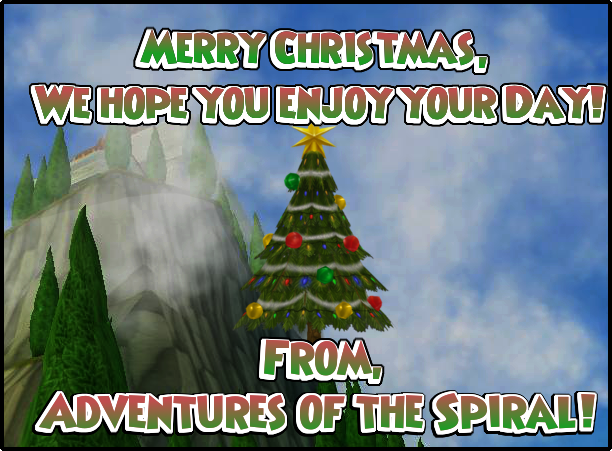 Merry Christmas from Adventures of the Spiral!