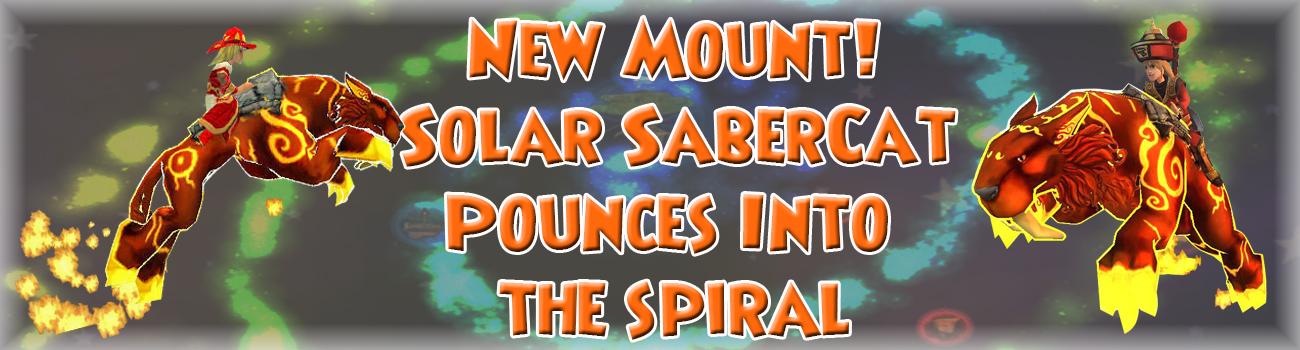 New Mount Solar Sabrecat Pounces Into Wizard101
